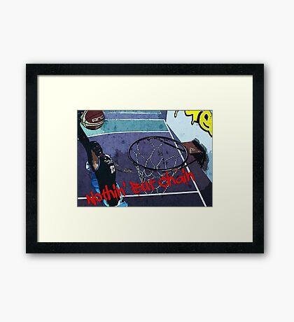 Basketball - Streetball Framed Print