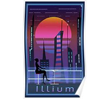 Mass Effect Illium Travel Poster Fan Art Poster
