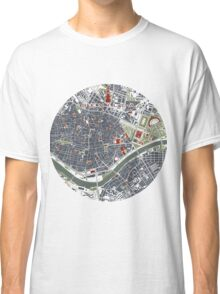 Seville city map engraving Classic T-Shirt