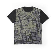 Warsaw map engraving Graphic T-Shirt