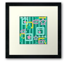 Creative design for children and teenagers. School. Framed Print