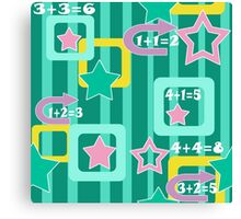 Creative design for children and teenagers. School. Canvas Print