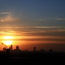 London Skyline at Sunset by Dale Rockell
