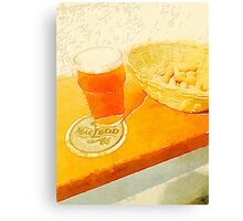 A pint and some peanuts Canvas Print