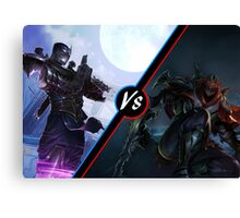 League Of Legends Zed Vs Shen Canvas Print