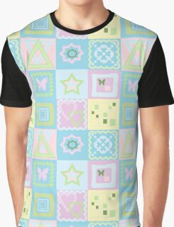 Patchwork seamless bright pattern with geometric elements background Graphic T-Shirt