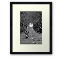 A viking on the road Framed Print