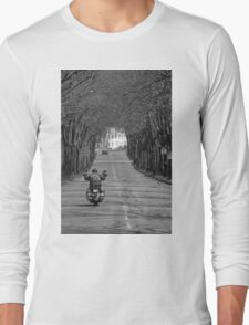 A viking on the road Long Sleeve T-Shirt