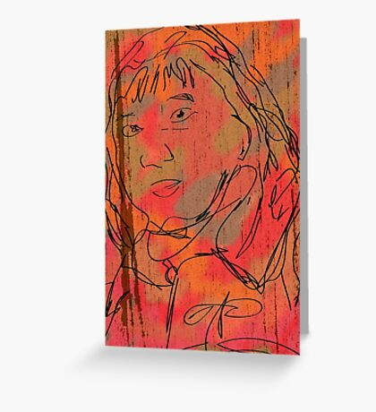 The Staring Woman Greeting Card