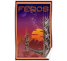 Mass Effect Feros Travel Poster Fan Art Poster
