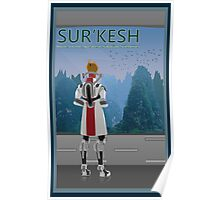 Mass Effect Sur'Kesh Travel Poster Fan Art Poster