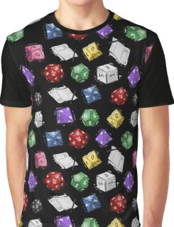 RPG DICE set and DICE PATTERN Graphic T-Shirt