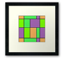 Abstract modern squares seamless pattern texture bright colors background Framed Print