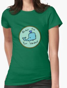 Inspirational Whale Womens Fitted T-Shirt