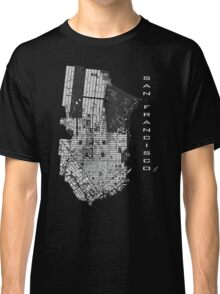 San Francisco map engraving Classic T-Shirt
