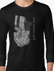 San Francisco map engraving Long Sleeve T-Shirt