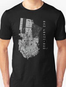 San Francisco map engraving T-Shirt