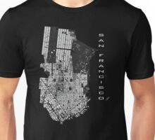 San Francisco map engraving Unisex T-Shirt