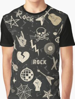 Retro Rebel Classic Rock and Roll Graphic T-Shirt