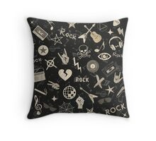 Retro Rebel Classic Rock and Roll Throw Pillow