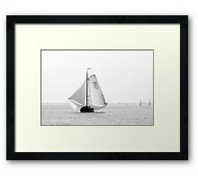 Vintage Sailing on the Eastern Scheldt, The Netherlands Framed Print