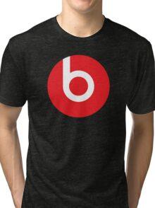 Beats   Logo   Black Background   High Quality!  Tri-blend T-Shirt