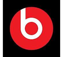 Beats | Logo | Black Background | High Quality!  Photographic Print