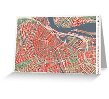 Amsterdam city map classic Greeting Card