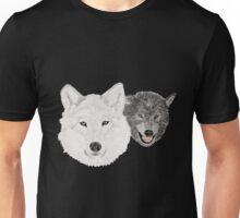 Wolves - Wölfe - white and black - weiß und schwarz Unisex T-Shirt