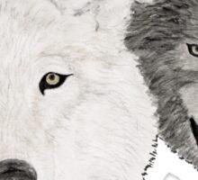 Wolves - Wölfe - white and black - weiß und schwarz Sticker