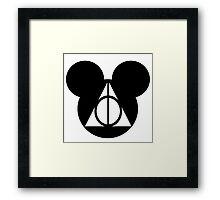 Deathly Mickey Framed Print