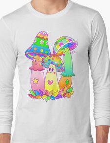 Colorful Mushroom Friends Long Sleeve T-Shirt