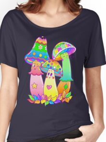 Colorful Mushroom Friends Women's Relaxed Fit T-Shirt