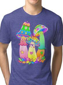 Colorful Mushroom Friends Tri-blend T-Shirt