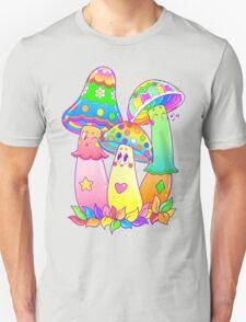 Colorful Mushroom Friends Unisex T-Shirt