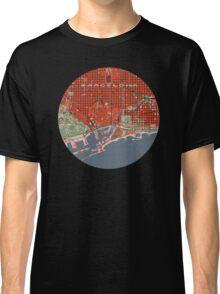 Barcelona city map classic Classic T-Shirt