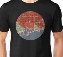 Barcelona city map classic Unisex T-Shirt