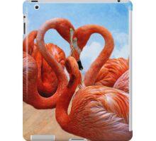 the heart of the flamingo iPad Case/Skin