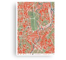 Berlin map classic Canvas Print