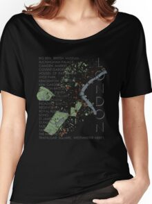 London city map Women's Relaxed Fit T-Shirt