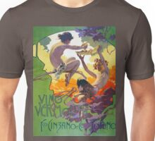 Vintage Art Nouveau vino wine advert Unisex T-Shirt