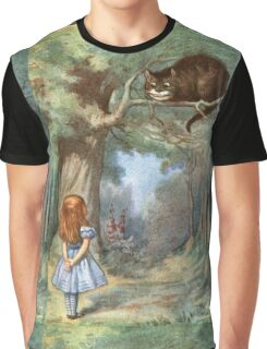 Vintage famous art - Alice In Wonderland - The Cheshire Cat Graphic T-Shirt