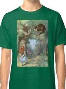 Vintage famous art - Alice In Wonderland - The Cheshire Cat Classic T-Shirt