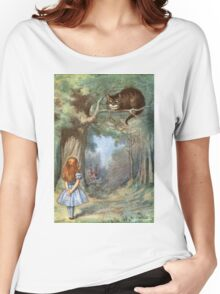 Vintage famous art - Alice In Wonderland - The Cheshire Cat Women's Relaxed Fit T-Shirt