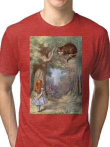 Vintage famous art - Alice In Wonderland - The Cheshire Cat Tri-blend T-Shirt
