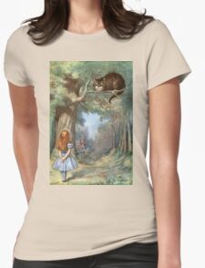 Vintage famous art - Alice In Wonderland - The Cheshire Cat Womens Fitted T-Shirt