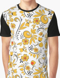 Khokhloma painting. Floral pattern Graphic T-Shirt