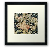 Alphonse Mucha - Woman In La Marguerite 1899  Garden,woman, love, dress,  birthday, fashion, spring, summer, peonies, pink,  beauty Framed Print