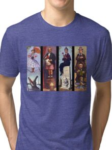Haunted mansion all Characthers Tri-blend T-Shirt