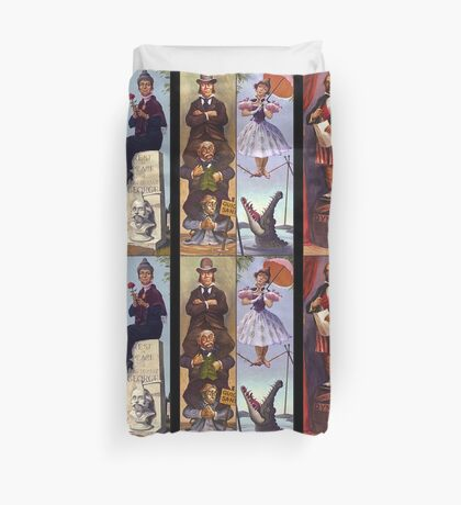 Haunted mansion all Characthers Duvet Cover